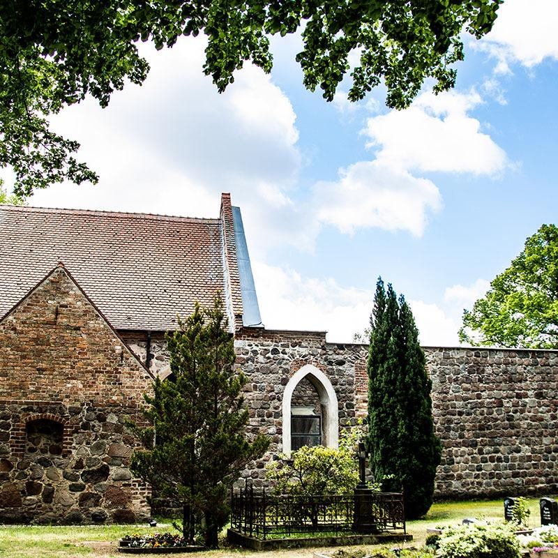 Gut Leben im Landresort Birkholz historische Dorfkirche
