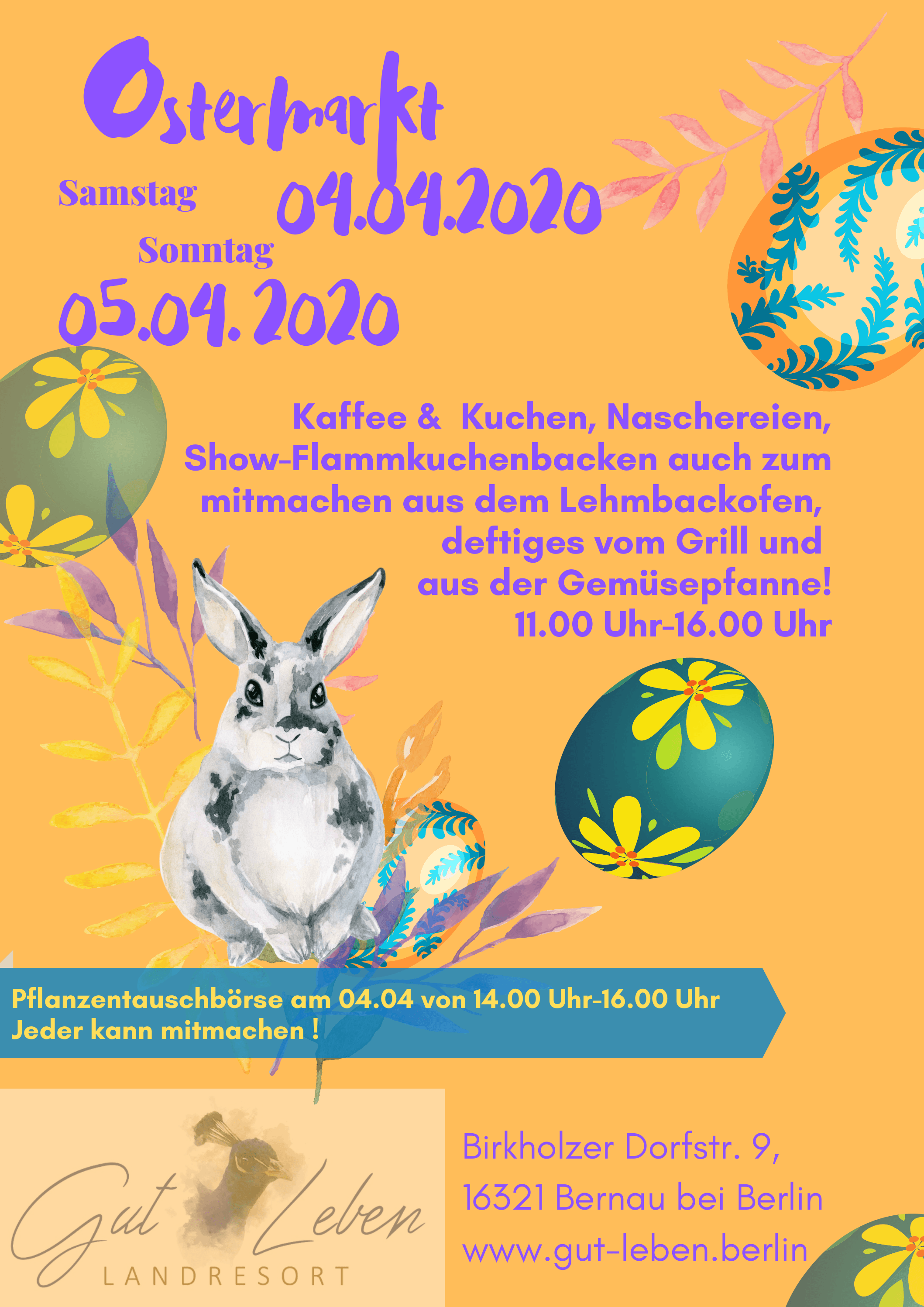 Ostermarkt Gut Leben am 04.04. und 05.04.